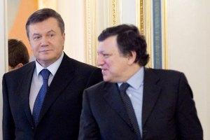 Баррозу встретится с Януковичем в конце месяца