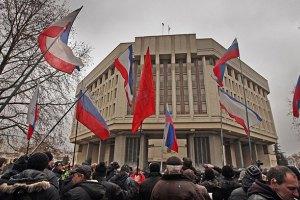 В Крыму вооруженные люди захватывают телекомпании