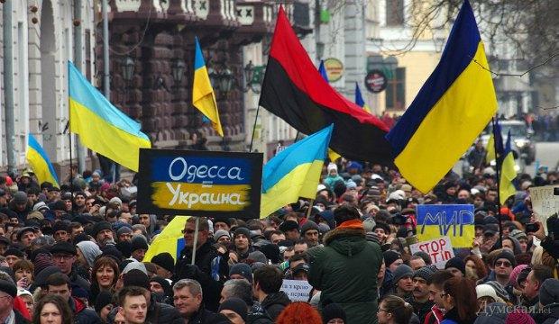 10 тысяч одесситов вышли на антивоенный митинг