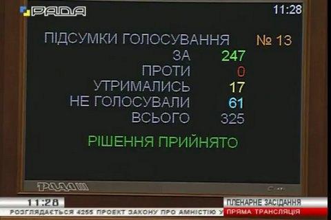 Рада прописала амнистию бойцов АТО