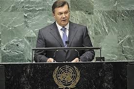 Янукович потребовал у ООН гарантий безопасности для Украины