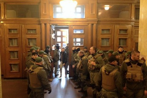 Работа Киевсовета почти месяц заблокирована