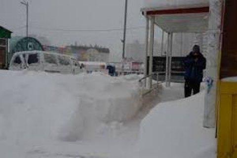 Більшість пропускних пунктів на українсько-молдовському кордоні закриті через снігопади