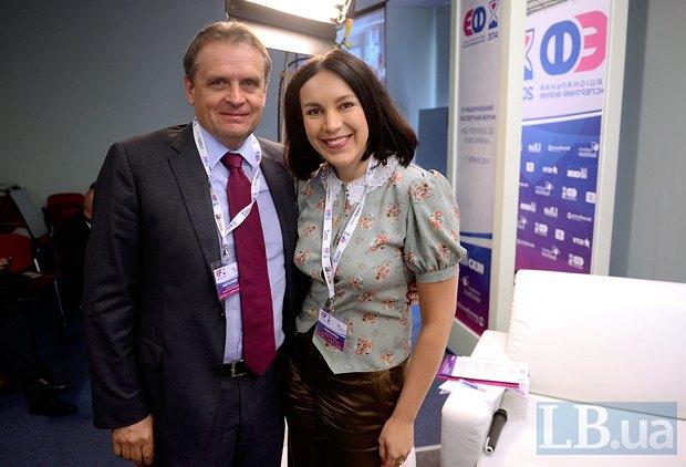 Соня Кошкина и</b> <b>Леонид Козаченко, глава Совета предпринимателей при Кабинете министров