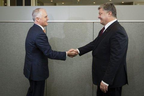 Порошенко и премьер Австралии скоординировали шаги по наказанию виновных в крушении МН17