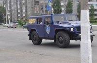 Военный джип Жириновского прорвался через границу в Луганскую область