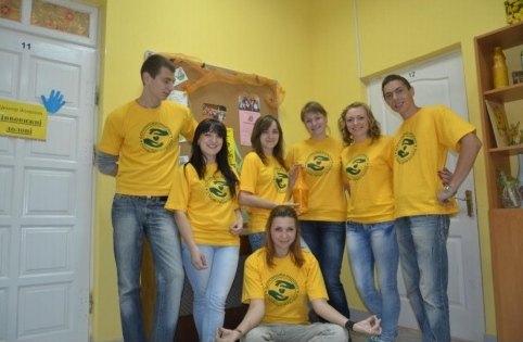 Волонтери, які брали участь в акції «Бути приятелем – значить бути поруч»