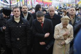 Оппозиция молится на Софийской площади
