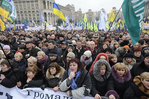 Предприниматели на Майдане попросили помощи и поддержки у киевлян