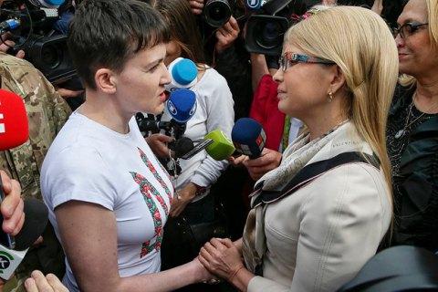 """После встречи в АП Савченко уехала в офис """"Батькивщины"""""""
