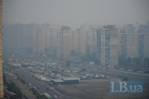 Загрязнение воздуха вКиеве превосходит  норму