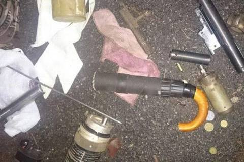 «Изобретение года»: вКиевской области задержали мужчину спистолетом-зонтом