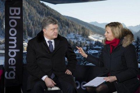 Порошенко назвал санкции эффективным механизмом влияния на Россию