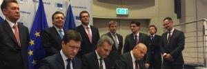 Украина подписала газовое соглашение с Россией