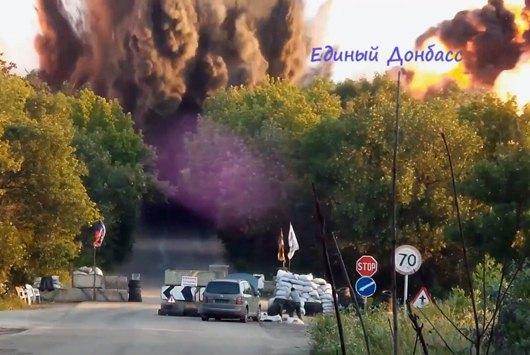 Взрыв моста на трассе Горловка-Дзержинск