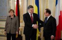 Порошенко, Олланд и Меркель отказались комментировать переговоры