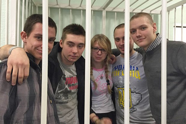 Слева направо: Николай Мнишенко, Андрей Романюк, Вита Заверуха, Кошелюк Евгений и Данил Сытников