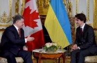 Порошенко предложил Трюдо синхронно ратифицировать соглашение о ЗСТ