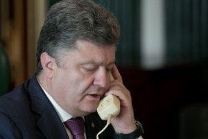 Порошенко провел телефонный разговор с Путиным, Меркель и Олландом