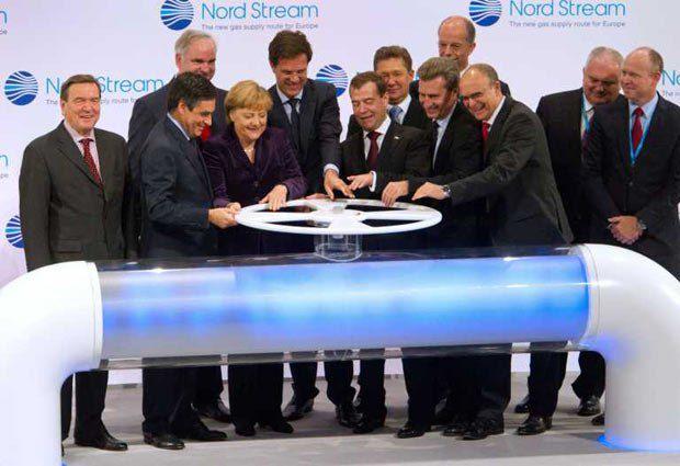 Медведев и Меркель запустили Северный поток