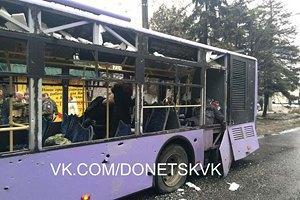 Минобороны: троллейбус в Донецке обстреляли террористы