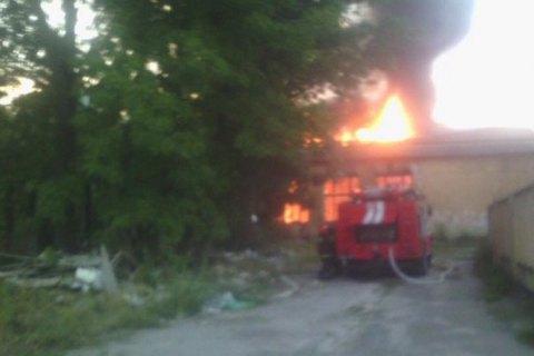 Пожар воЛьвове: полыхает воинская часть
