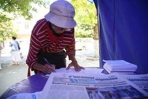 Суд оштрафовал пенсионерку за призыв не голосовать за ПР (Документ)