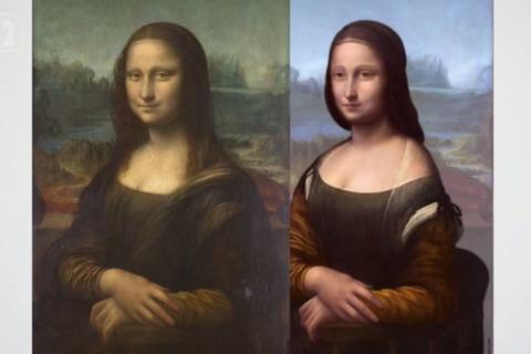 """Учений знайшов під """"Моною Лізою"""" ще один портрет (видео)"""