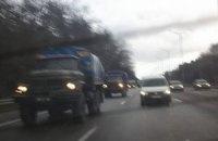 Из Крыма в Киев выехали автобусы с внутренними войсками