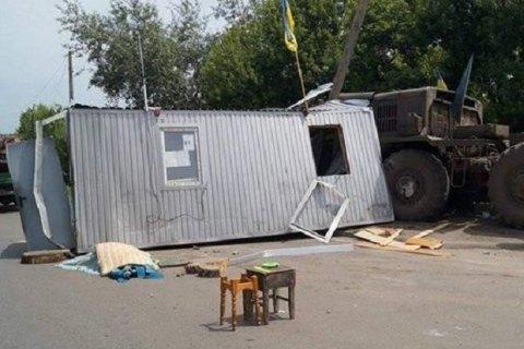 В зоне АТО военный тягач протаранил блокпост, погиб сержант полиции (обновлено)