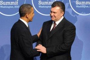 Янукович пообщался с Обамой
