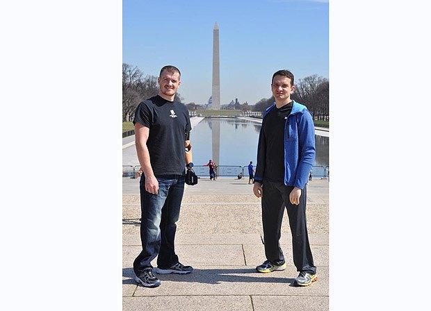 Вадим Свириденко та Вадим Мазніченко після реабілітації у США