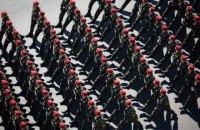 На Крещатике прошли парадом бойцы АТО