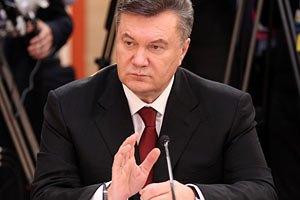 Янукович поговорит в Давосе о газе