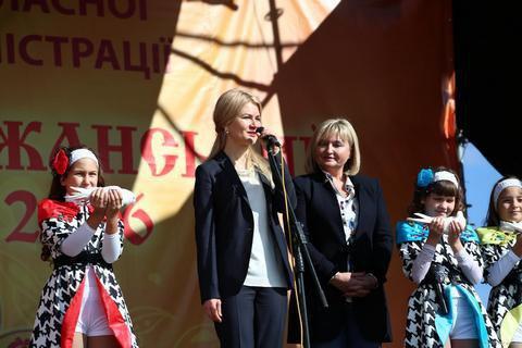 Светличная и Луценко открыли Слобожанскую ярмарку в Харькове