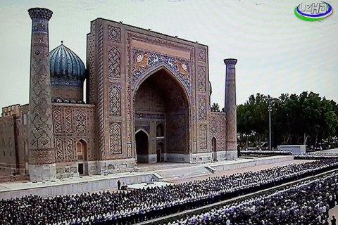 Трансляция церемонии прощания ипохорон президента— Похороны Каримова Ислама