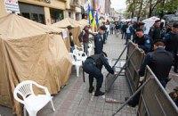 МВД насчитало у Печерского суда 50 сторонников Тимошенко и 200 противников