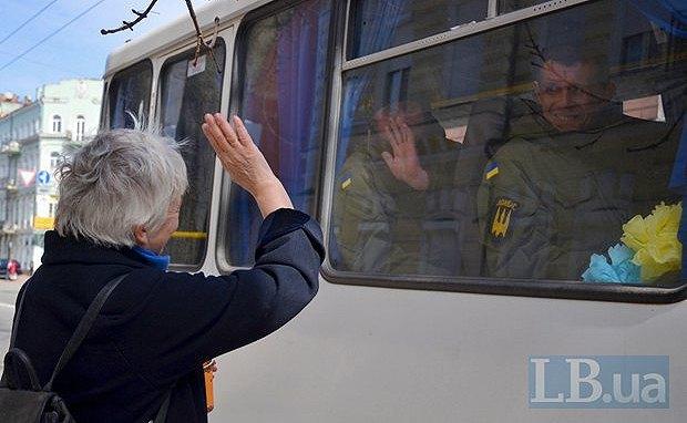 Бійці батальйона Донбас вирушають в зону АТО
