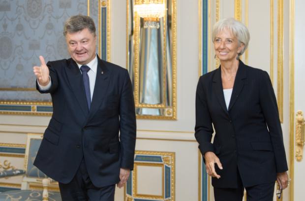 Петро Порошенко та голова МВФ Кристін Лагард