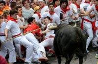 В Испании защитники животных подрались с любителями забегов быков