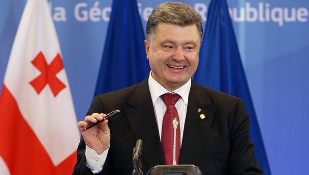 Порошенко подписал соглашение ручкой с Вильнюсского саммита Восточного партнерства, на котором должен был подписать его бывший президент Виктор Янукович
