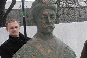 В Киеве появился временный памятник Мазепе