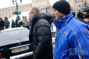Яценюк: цель милиции - не штурм, а блокада Евромайдана