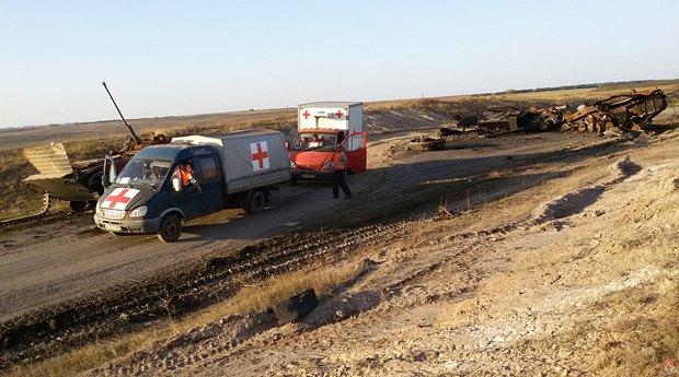 Гуманитарная миссия <<Черный тюльпан>> во время поисковой операции в зоне АТО