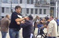 В Москве избили участников пикета против войны в Украине