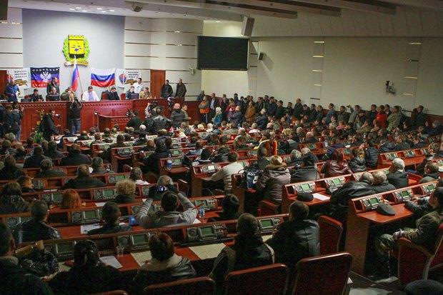Заседание нелегитимной сессии облсовета
