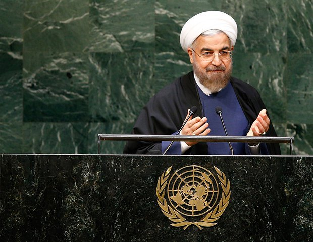 Хасана Рухани на сессии ООН в сентябре 2014 г.