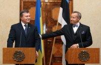 Октябрь 2013 года, официальный визит Президента Украины в Эстонию