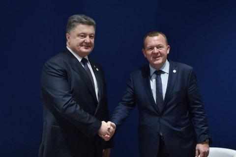 Порошенко проведет встречу с премьером Дании
