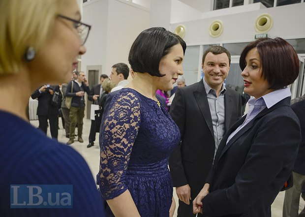 Слева направо: Людмила Денисова, Соня Кошкина, Андрей Иванчук, Терезия Яценюк